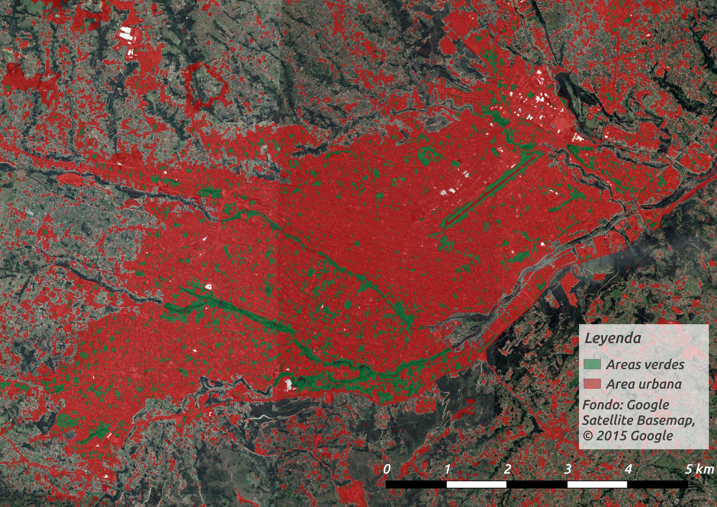 Detectando tejidos urbanos desde el espacio